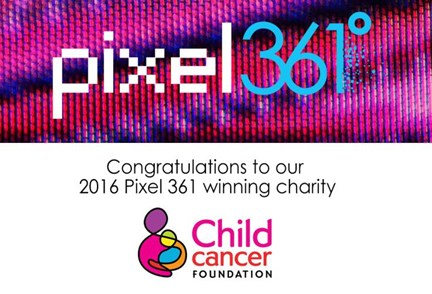 Child Cancer Foundation win Pixel 361 charity search