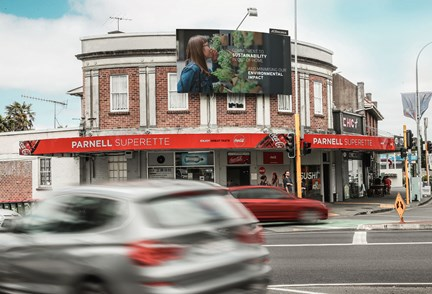 JCDecaux introduces eco-friendly billboard material in New Zealand